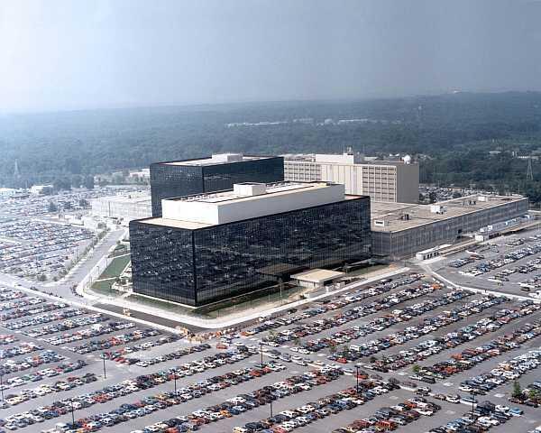 Vista aérea de la NSA, a Agência Nacional de Segurança