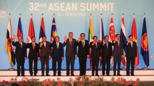 Thượng đỉnh lần thứ 32 của ASEAN. Ảnh tại Singapore, ngày 28/04/2018.