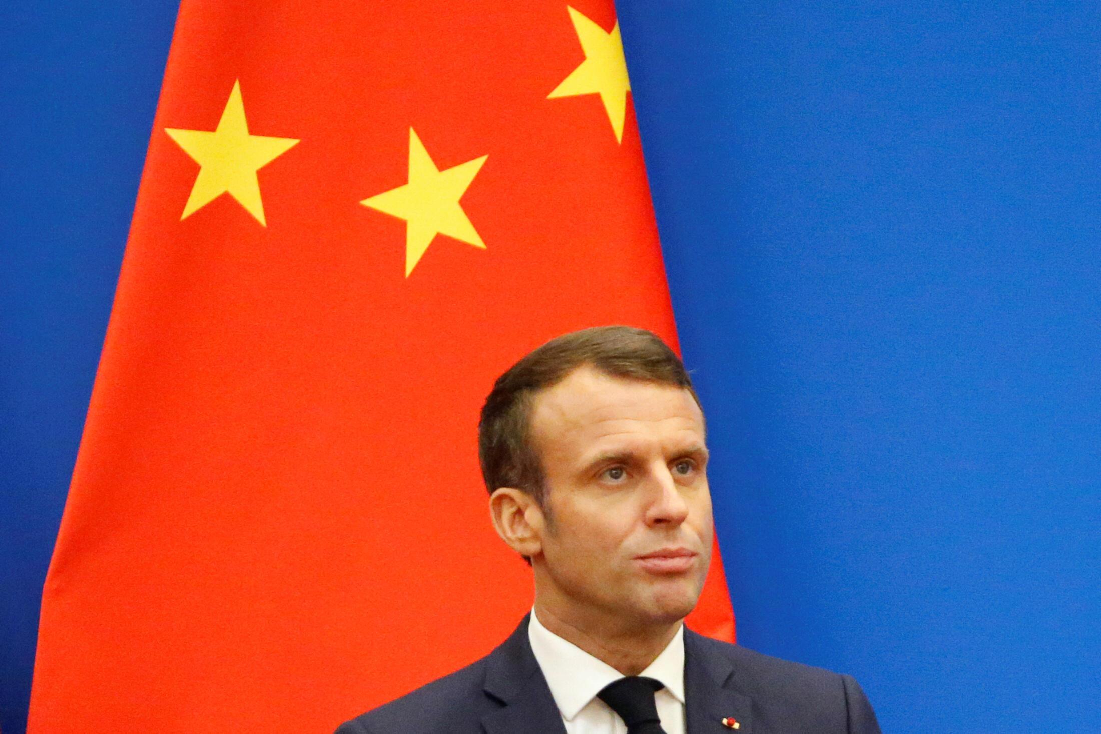 Tổng thống Pháp Emmanuel Macron phát biểu tại Diễn đàn kinh tế Trung-Pháp, Bắc Kinh, Trung Quốc, ngày 06/11/2019