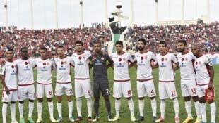 Le Wydad Casablanca le 29 septembre 2017 lors de la demi-finale aller de la Ligue des champions face à l'USM Alger.