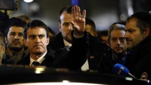 Manuel Valls au rassemblement du Crif porte de Vincennes, le 10 janvier 2015.