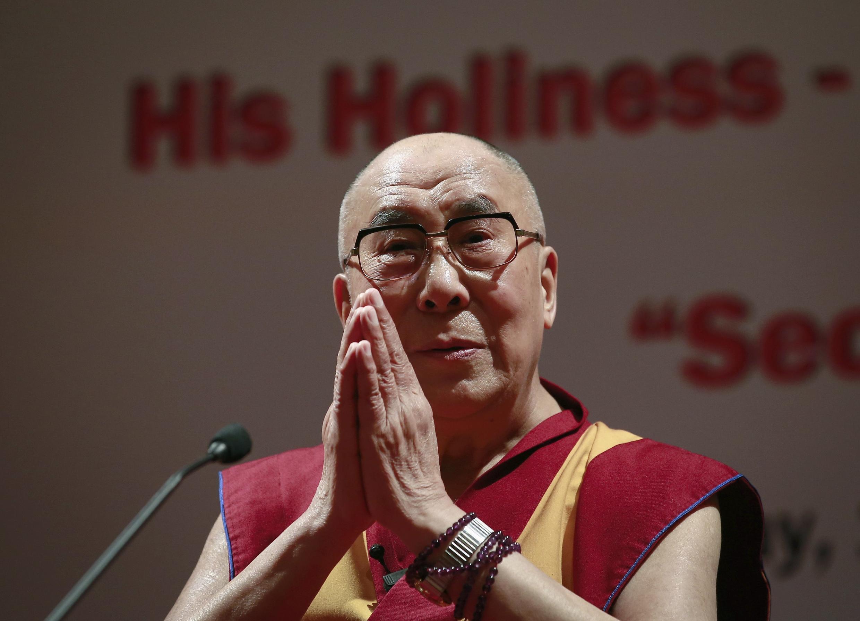 O Dalai Lama, em Mumbai, em 2014.