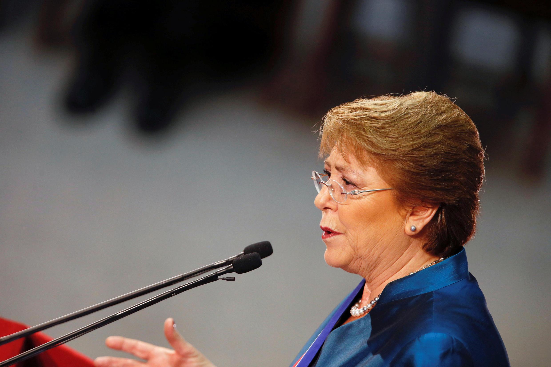 La présidente du Chili, Michelle Bachelet, le 21 mai 2016 à Valparaiso pour son adresse annuelle à la nation devant le Congrès national.