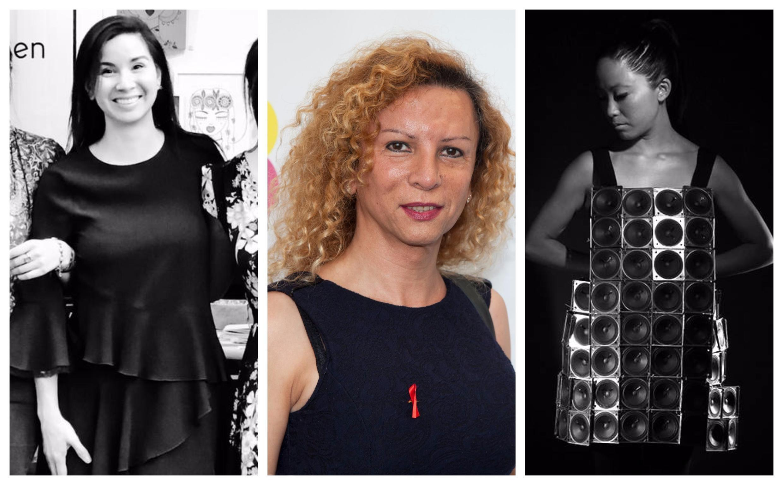 Mónica, Giovanna Rincón y Pauchi Sasaki