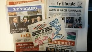 Primeiras páginas dos jornais franceses de 18 de maio de 2017