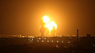 Un raid aérien israélien en novembre 2019 touchant la bande de Gaza (image d'illustration).