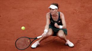 Poland's Agnieszka Radwanska in action during her third round match against France's Alize Cornet