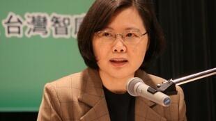 台湾民进党主席,总统候选人蔡英文。