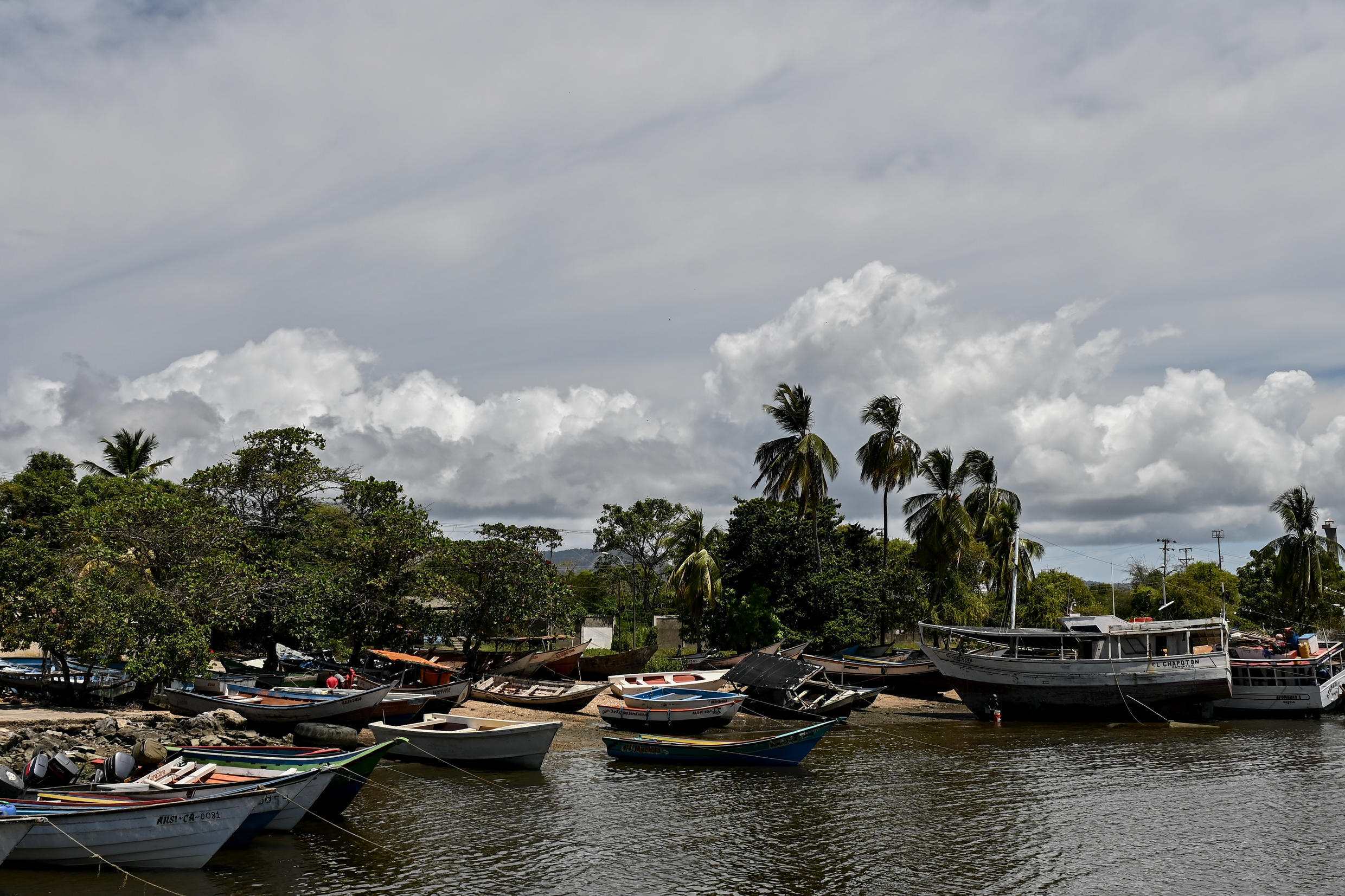 The port of Guiria in northeastern Venezuela from where many migrants try to make the perilous crossing to Trinidad and Tobago
