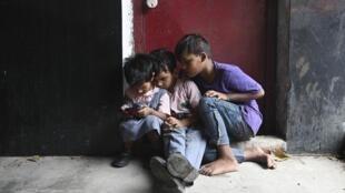 印度贫穷儿童