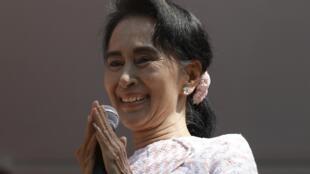 Aung San Suu Kyi, présidente de la LND, à Rangoon, le 9 novembre 2015.