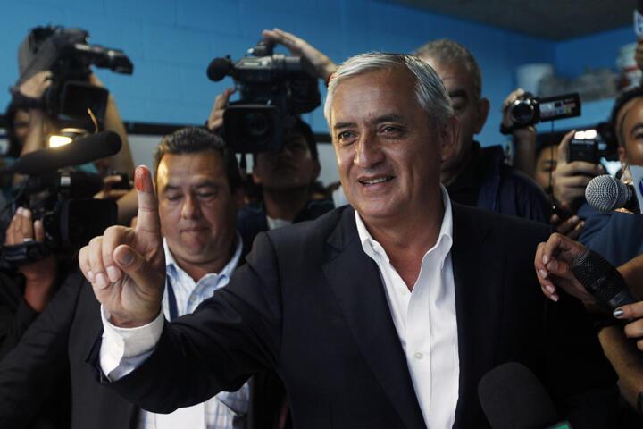 Otto Pérez candidato a la presidencia del Partido Patriota de Guatemala.