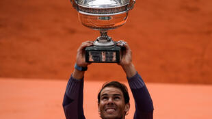 Spain's Rafael Nadal celebrates winning his 12th French Open title in 2019
