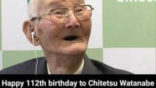 Chitetsu Watanabe dattijo dan Japan mafi yawan shekaru a duniya.
