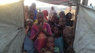 'Yan gudun hijirar Najeriya a sansanin Dar es Salaam da ke tafkin Chadi