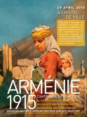 Выставка в мэрии Парижа посвящена столетию геноцида армян. С 28 апреля по 4 июля.