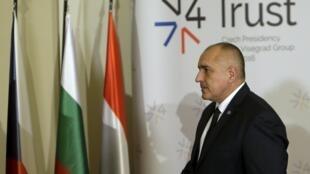 Thủ tướng Bulgari Boïko Borisov đến dự thượng đỉnh nhóm Visegrad, tại Praha, CH Séc, 15/02/2016