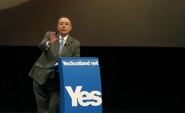 Scotland's First Minister Alex Salmond addresses the International Media Conference, Edinburgh, Scotland, 11 September 2014.