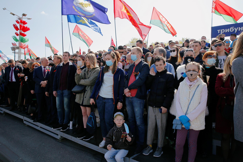 Парад в Минске прошел во время вспышки коронавирусной инфекции