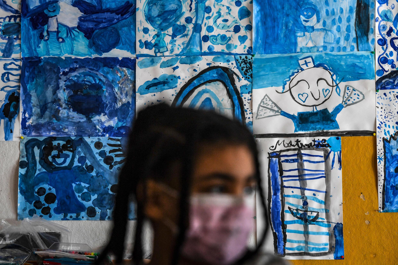 Aluna na escola Condes da Lousa, Amadora.