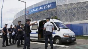 Esquema de segurança para a Eurocopa na França