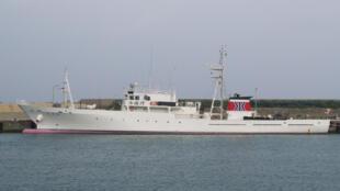 Ảnh minh họa : Tàu tuần tra ngư nghiệp Nhật Bản Muashi ở cảng Kubura. Ảnh Wikipedia