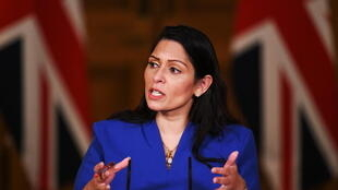 英国内政大臣帕特尔资料图片