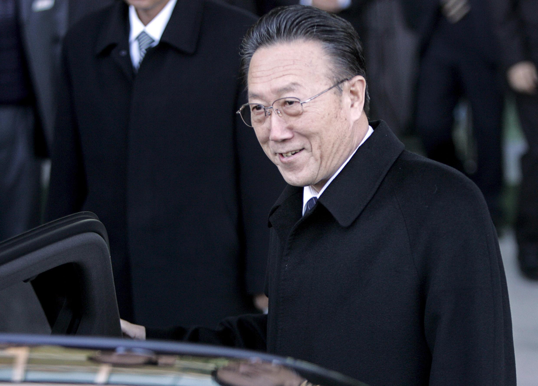 Ông Kim Yang Gon tại Bàn Môn Điếm. Ảnh tư liệu chụp ngày 29/11/2007.