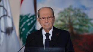 Michel Aoun, le président libanais le 30 août 2020.