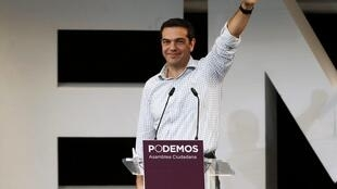 Syriza leader Alexis Tsipras at a rally in Madrid last year