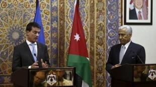 O primeiro-ministro francês encontrou o homólogo jordaniano, Abdullah Ensour,domingo 11 Oututbro em Aman.