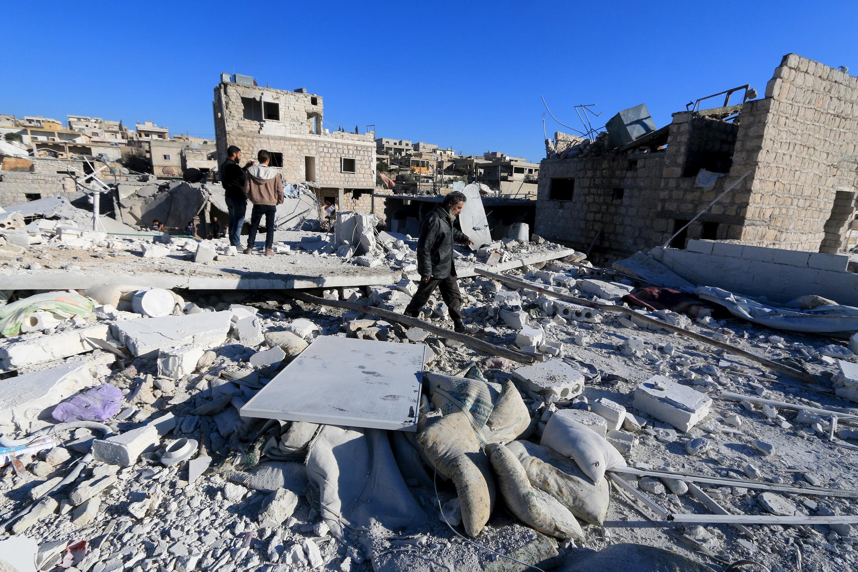 Moja ya maeneo yaliyoharibiwa vibaya kutokana na mapigano yanayoendelea nchini Syria