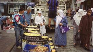 Un marché d'Alger