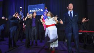 Une réunion d'évangéliques, dont le thème est l'élection présidentielle américaine 2020. Photo datée du 23 juillet 2020.