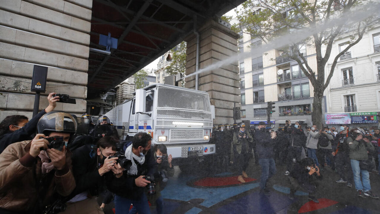 Tear gas fired as Paris police try to disperse banned pro-Palestinian rallygoogle-play-badge_EN