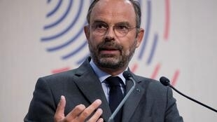 Le Premier ministre Édouard Philippe lors de la conférence des ambassadeurs de France à paris, le 28 août 2019.