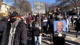 Manifestation Procès Derek Chauvin George Floyd