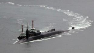 آمریکا زیردریایی هسته ای میشیگان را در بندر بوسان کره جنوبی مستقر کرد.
