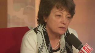 Hala Kodmani, dans les studios de RFI, ce jeudi 23 janvier 2014.