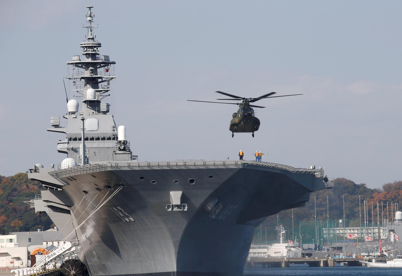 Ảnh tư liệu : Tàu chở trực thăng Izumo, Nhật Bản. Ảnh ngày 6/12/2016.