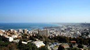 Vue de la ville d'Alger, en Algérie.