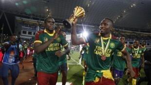 Les Camerounais, vainqueurs de la CAN 2017.