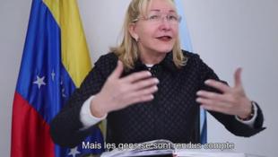 Un momento del documental con Luisa Ortega