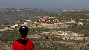 Vue sur des colonies israéliennes à proximité de la ville de Naplouse, en Cisjordanie.