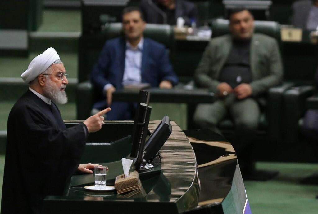 Tổng thống Hassan Rohani phát biểu trước Quốc Hội Iran ngày 03/09/2019