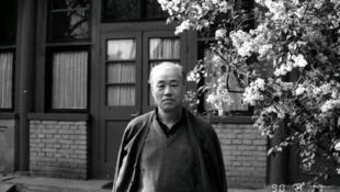 前中共总书记赵紫阳1990年4月17日在北京家中。 资料照片