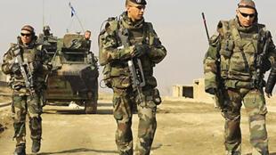 Soldats français patrouillant près de Kaboul en Afghanistan. Photo datée de 2008.