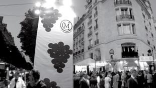 Durante a celebração das colheitas das uvas, todos circulam e bebem vinhos e champagne.