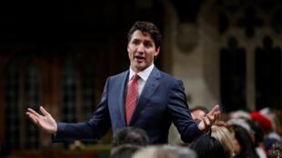 资料图片:加拿大总理杜鲁多2017年10月25日在众议院发言。