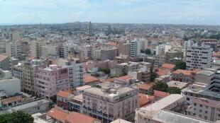 Vue du quartier du Plateau dans le centre-ville de Dakar, Sénégal.